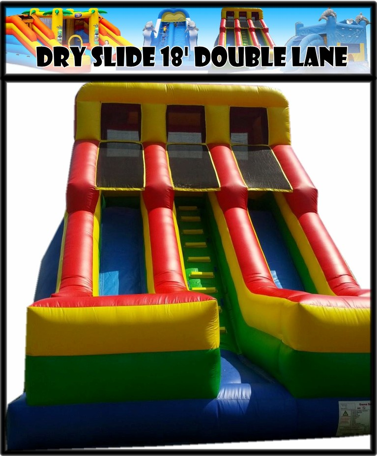 Dry Slide 18' Double Lane